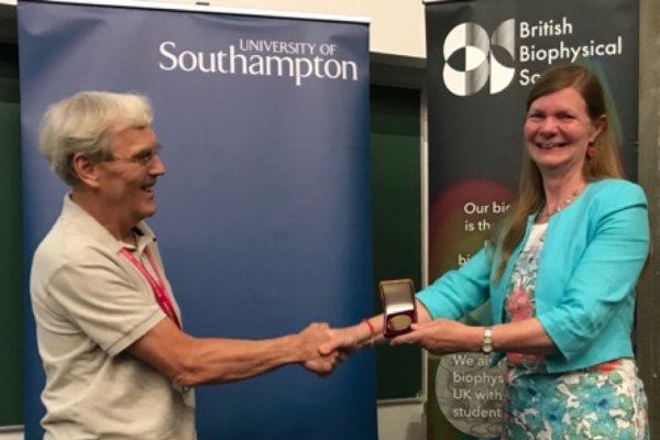 Elspeth receiving her prize on the 12th July 2018