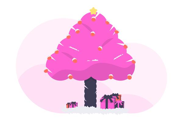 undraw christmas tree 56sw